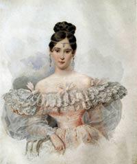 А.П.Брюллов. Портрет Н.Н.Пушкиной.1831 г.