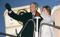 Буш уехал на каникулы