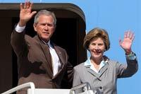Буш может заглянуть к Ющенко перед встречей