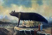 Капитолийская волчица, которая вскормила основателей