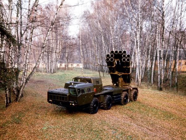 Реактивная система залпового огня  Смерч  Ряд принципиально новых технических решений, воплощенных в конструкции этой системы и реактивного снаряда, позволяет отнести ее к совершенно новому поколению оружия подобного рода. Фото ИТАР-ТАСС