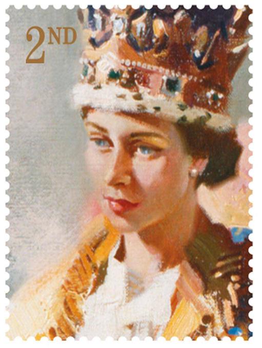 В Великобритании празднуют 60-летие правления Елизаветы II В новую юбилейную серию вошли 6 марок. Одну из марок украшает известнейший портрет королевы - кисти Пьетро Аннигони. Картину в 1954 году заказала Гильдия рыботорговцев для главного зала Фишмангер-холла. Великобритания, праздник, 60-летие правления Елизаветы II, королева