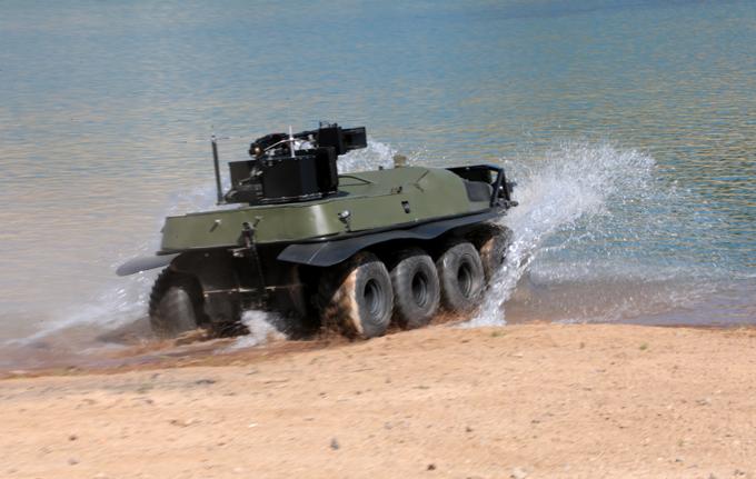 Боевой вездеход  Арго  Разработка предназначена для разведки и патрулирования местности, поражения живой силы врага, а также небронированной или легкобронированной техники.