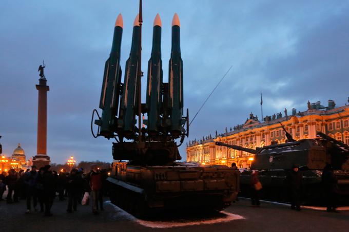 Военное обозрение во главе парадных