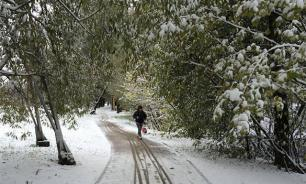 Жителей Хакасии удивил снег посреди лета