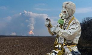 Военные и местные жители: горящая Балаклея поражена радиацией
