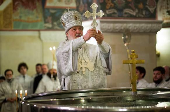 Православные верующие празднуют Крещение Господне