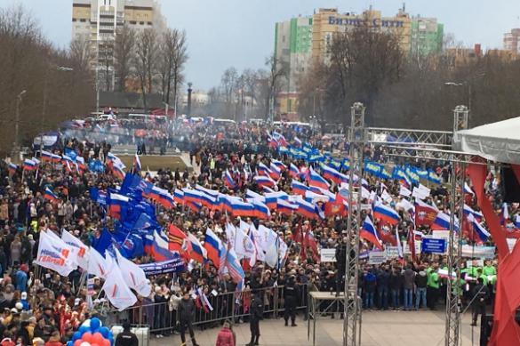Как в России праздновали день воссоединения с Крымом. ФОТО