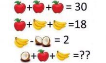 Ответ на задачу о яблоках,  бананах и кокосах