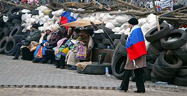 Протестующий Донецк поддержал независимость Крыма