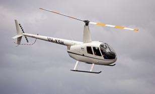 На МКАД приземлился вертолет