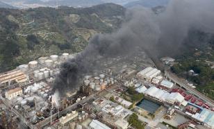 В Японии горит НПЗ, более 500 человек эвакуированы