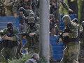 В Луганске десантники из Днепропетровска под российским флагом вступили в перестрелку с десантниками из Львова
