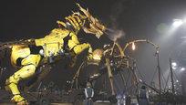Робот лошадь-дракон, подготовка к Хэллоуину и поздравление слонихи с днем рождения и рисунок на удачу.