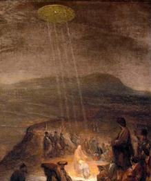 Загадочные небесные объекты изображались даже европейскими живописцами XIII-XVII веков на картинах с религиозными сюжетами.