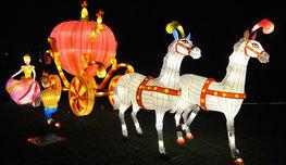 Царство света под предводительством Обезьяны и китайского Дракона — это  Фестиваль волшебных фонарей  в Лондоне.