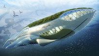 Винсент Каллебаут (Vincent Callebaut) создал проект плавучего сада в форме кита, который будет дрейфовать в мировых реках, очищая в них воду.