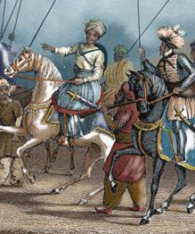 Первоначально элитные войска Османской империи, впоследствии янычары, деградировали и стали путчистами.