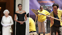 Мишель Обама: и с королевой, и с лопатой