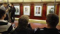 Сегодня в московском метрополитене состоялся торжественный пуск поезда  Акварель , украшенного репродукциями шедевров Третьяковской галереи. Мероприятие приурочено к 77-летию столичной подземки.