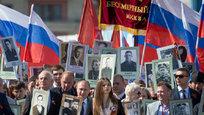 Владимир Путин возглавил шествие  Бессмертного полка
