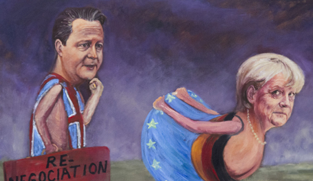 Британский художник Кайя Мар и её сатирическая карикатура на нынешних западных политиков.