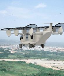 Американская фирма создала прототип летающего грузовика-трансформера. Эта штуковина пылит по дорогам, может вертикально взлетать и даже не тонет.