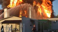 Взрыв нефтебазы под Киевом