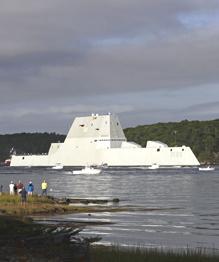 Эсминец  Зумвальт  называют  кораблем будущего  и  Стелсом-Разрушителем . А как иначе назвать 15-тысячетонную боевую громилу, которую стелс-технологии не дадут обнаружить врагу?