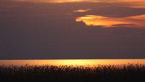 День подходил к концу и солнце, прячась за горизонтом, оставляло на поверхности воды свои последние следы. Облака сменили свой окрас на ночной и медленно, будто в полудреме, плыли над Волгой...