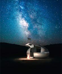Словацкие архитекторы создали мини-здание наподобие космического корабля, которое условно назвали экокапсулой. В этой штуковине возможно пережить конец света.