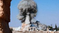 Боевики  Исламского государства  разместили в интернете кадры уничтожения храма Баалшамина в Пальмире.