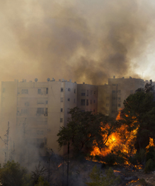 Гигантские пожары в Израиле