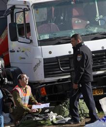 В Иерусалиме грузовик врезался в толпу прохожих