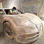 Индонезийские рабочие делают точную копию Bugatti Veyron Super Sport в настоящую величину, но только из дерева.