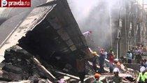 Авиакатастрофа в Индонезии: самолет упал на жилые дома