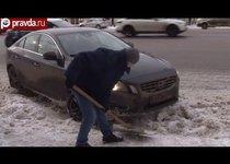 Москва превратилась в сугроб