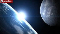 Названо время столкновения Земли и Луны
