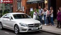 Русский Mercedes в алмазах покорил Лондон