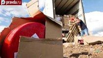 """""""Война и сыр"""": как уничтожают санкционные продукты"""