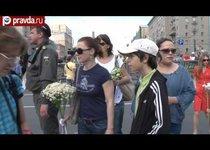 Возложение цветов к памятнику жертвам ГКЧП
