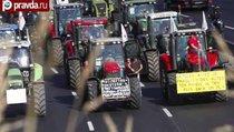 Тракторные протесты в ЕС против санкций и кризиса