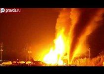 Взрыв барж с газом в США