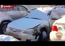 Незадачливый угонщик разбил украденную машину