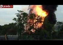 В США взорвался поезд с химикатами