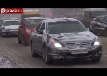 Снег парализовал Москву